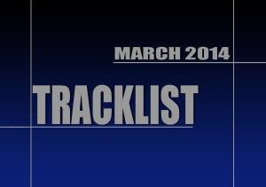 Tracklist Marzo 2014